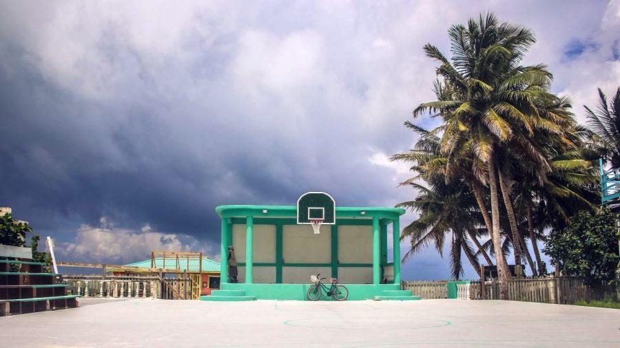 Basketballfeld auf Caye Caulker