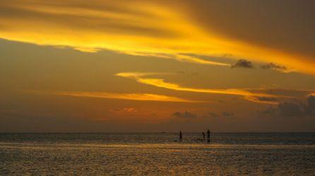 Sonnenuntergang, SUP