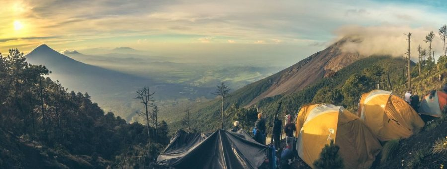 Campen auf dem Acatenango