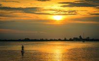 Sonnenuntergang auf Utila