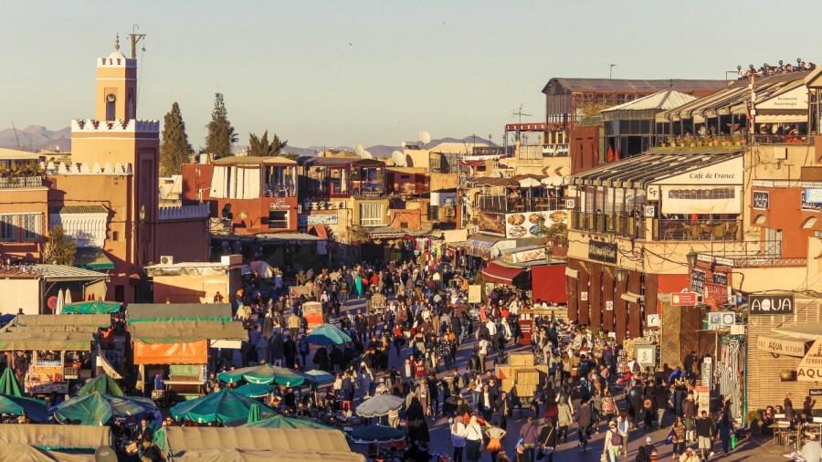Marrakesch am späten Nachmittag