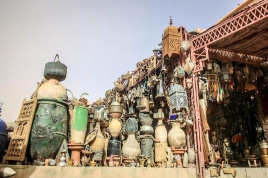 Vasenhändler in Ouarzazate