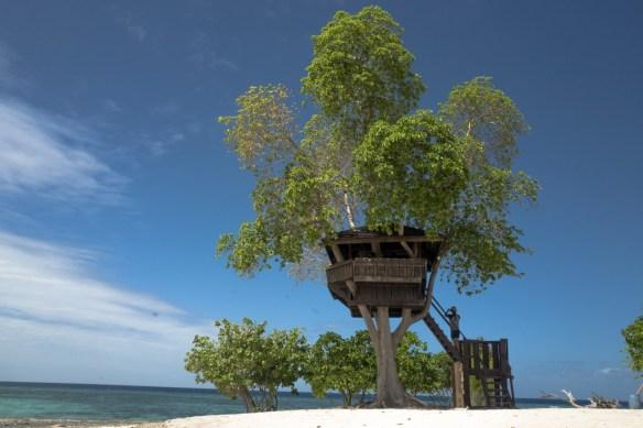 Baumhaus am Ostende von Kalanggaman Island