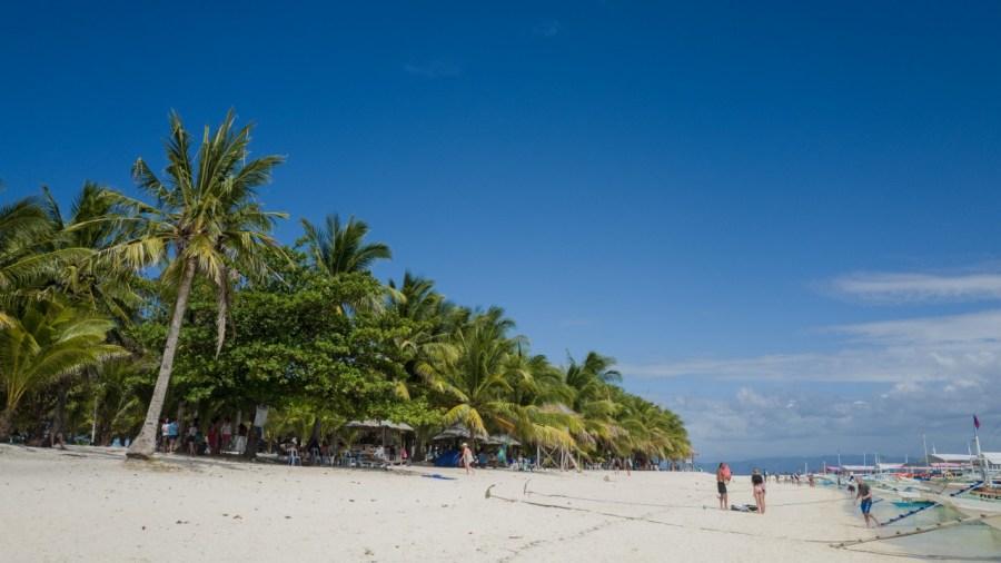 Der Strand von Kalanggaman Island.