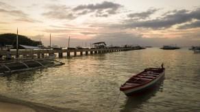 Boot vor Malapascua