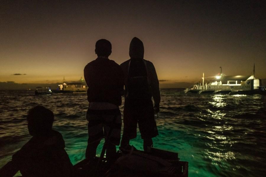 Auf einem Boot in Malapascua