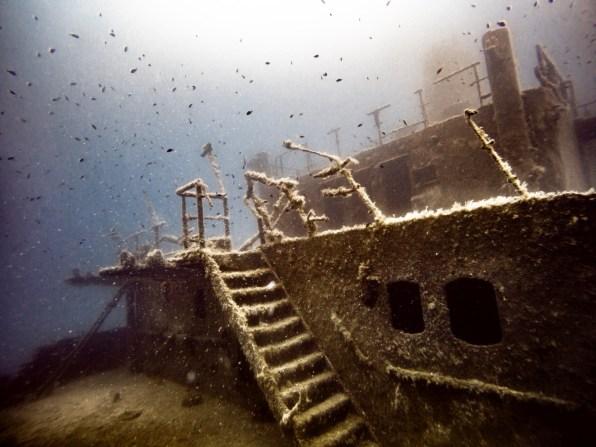 Das Wrack der Um El Faroud vor Malta