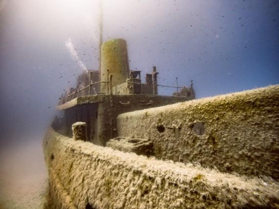 Das Wrack vom Tugboat Rozi vor Malta