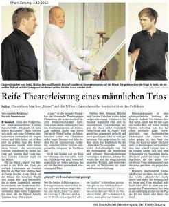 Artikel der Rhein-Zeitung zur Inszenierung von Kunst im Roentgen-Museum Neuwied