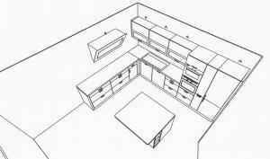Skizze unserer neuen Küche