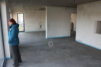 Estrich Wohnzimmer und Küche