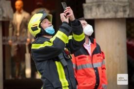Offenbar ist auch die Feuerwehr stolz auf ihre Arbeit (Foto: Bührke)