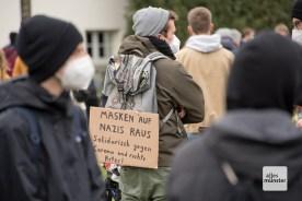 Die Gegendemonstranten waren deutlich in der Überzahl (Foto: Bührke)