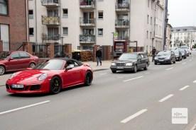 25 Fahrzeuge haben sich an dem Autokorso in Münster beteiligt (Foto: Bührke)