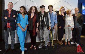 Von der Regisseurin Samira Radsi bis zu den Gast-Schauspieler Dirk Martens und Thomas Arnold waren wieder viele vom Ensemble und aus dem Stab zur TATORT-Premiere nach Münster gekommen (Foto: Tanja Sollwedel)