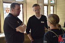 ALLES MÜNSTER-Gründer Stephan Günther und Thomas Hölscher im Gespräch mit Charlotte Löber von Elbén. (Foto: Tanja Sollwedel)