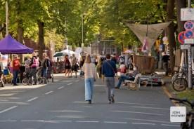 Am 18. September gehörte die Wolbecker Straße zumindest zum Teil ausschließlich den Fußgängern.