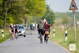 Bei schönem Wetter sind sehr viele Radfahrer in den Rieselfeldern unterwegs. (Foto: Michael Bührke)