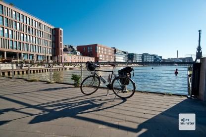 Start und Ziel: Münsters Stadthafen (Foto: Michael Bührke)