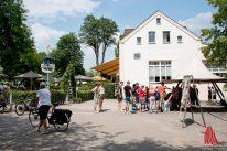 """""""Pleistermühle"""" ist ein beliebtes Ausflugslokal. (Foto: Michael Bührke)"""