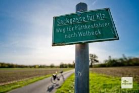 """Radwandern auf """"Pättkes"""" hat im Münsterland eine lange Tradition (Foto: Michael Bührke)"""