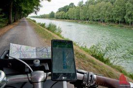 Am Kanal geht's zurück zum Hafen. (Foto: Michael Bührke)