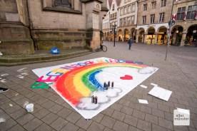 Mit fantasievollen Aktionen hat die Kita Regenbogenkinder auf ihre Situation aufmerksam gemacht