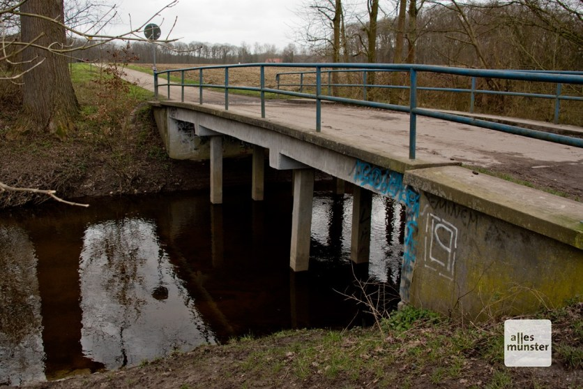 Der Emmerbach fließt in Sichtweite an dem geplanten Stall vorbei. (Foto: Bührke)