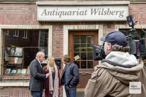Das Antiquariat in der Frauenstraße ist als Drehort natürlich immer dabei. (Foto: Claudia Feldmann)