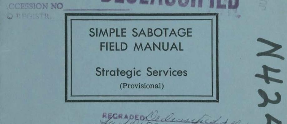 Sabotage Field Manual