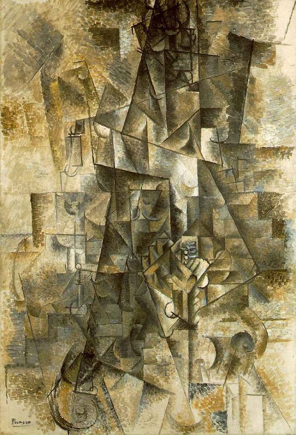 The Accordionist - TOP 10 MOST FAMOUS ICONIC PAINTINGS BY PABLO PICASSO