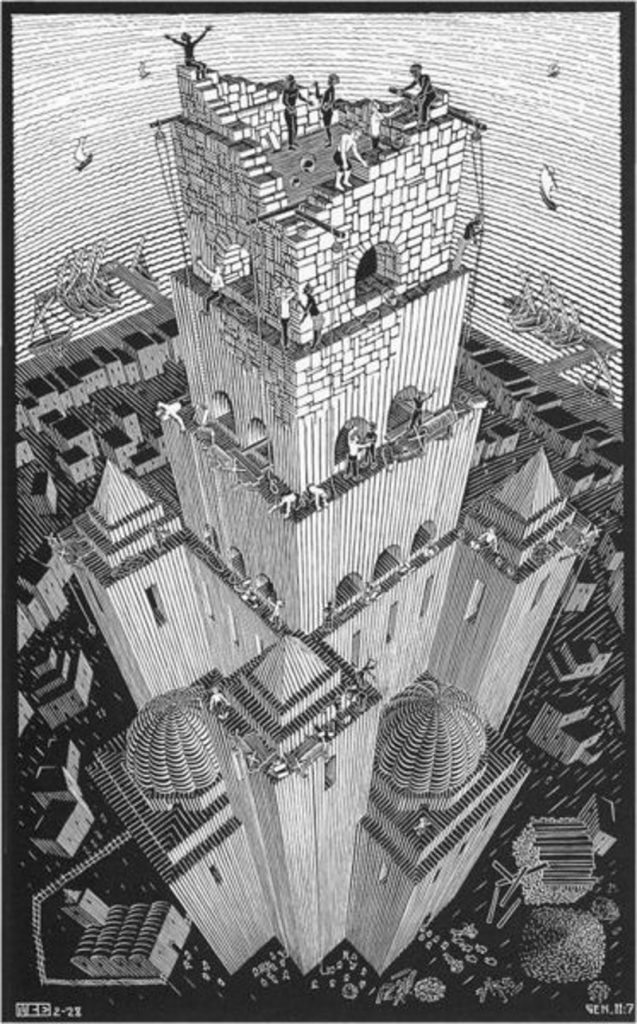 babel 637x1024 - TOP 10 MOST FAMOUS AND BEST WORKS BY MC ESCHER