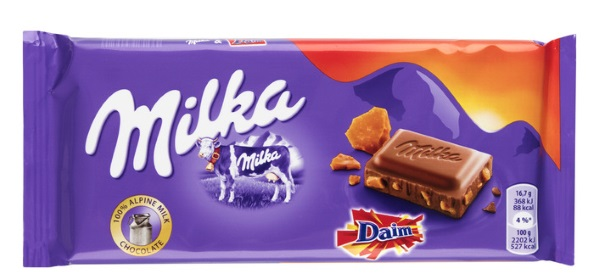 Milka Tablet Daim - TOP 10 BEST CHOCOLATE BARS IN THE WORLD