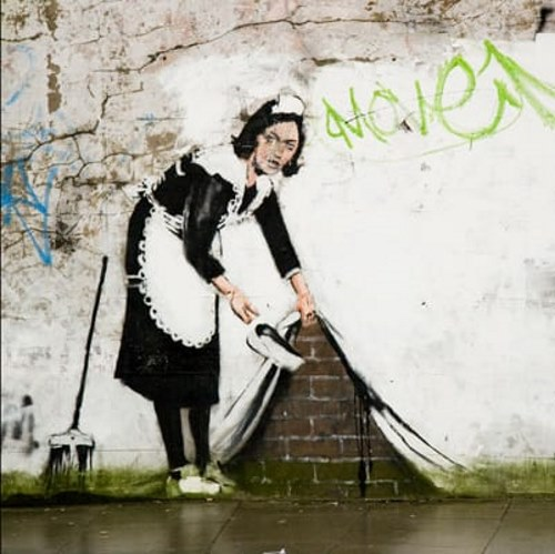 Sweep It Under The Carpet - TOP 10 GRAFFITI ARTWORKS BY BANKSY