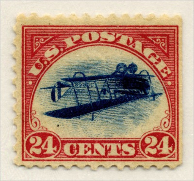 Inverted Jenny - TOP 10 MOST EXPENSIVE STAMPS EVER SOLD