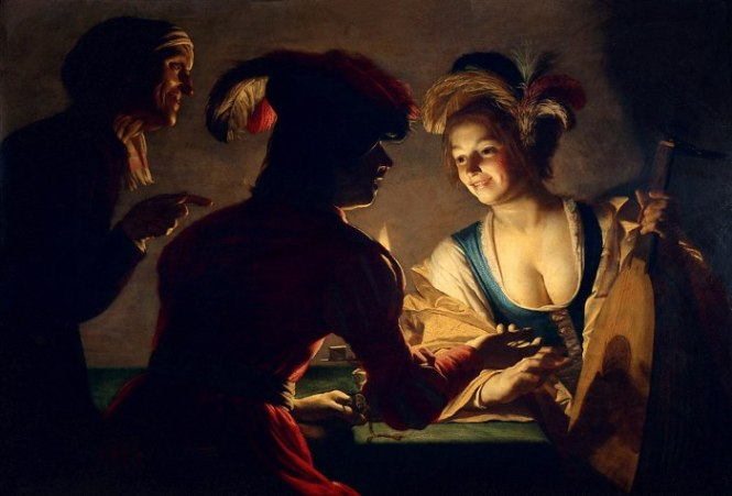 Gerard van Honthorst de koppelaarster - TOP 10 MOST FAMOUS DUTCH PAINTERS OF ALL TIME