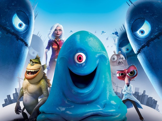 Monsters vs Aliens - TOP 10 BEST 3D MOVIES