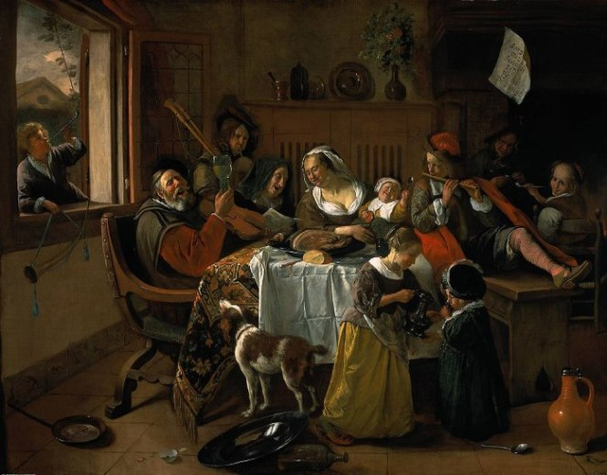 jan steen het vrolijke huisgezin - TOP 10 MOST FAMOUS DUTCH PAINTERS OF ALL TIME