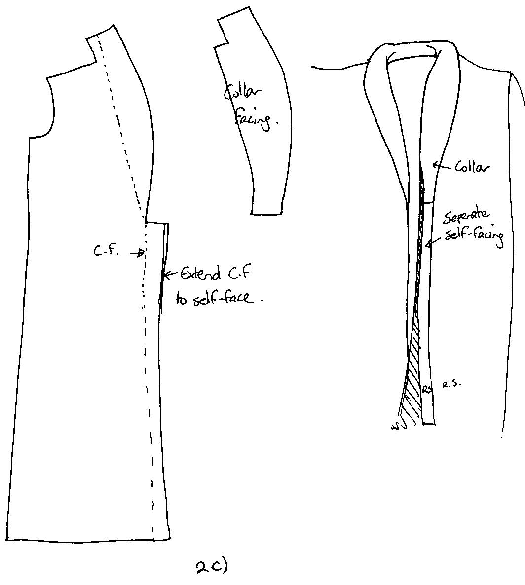 Rolled Collar Pattern