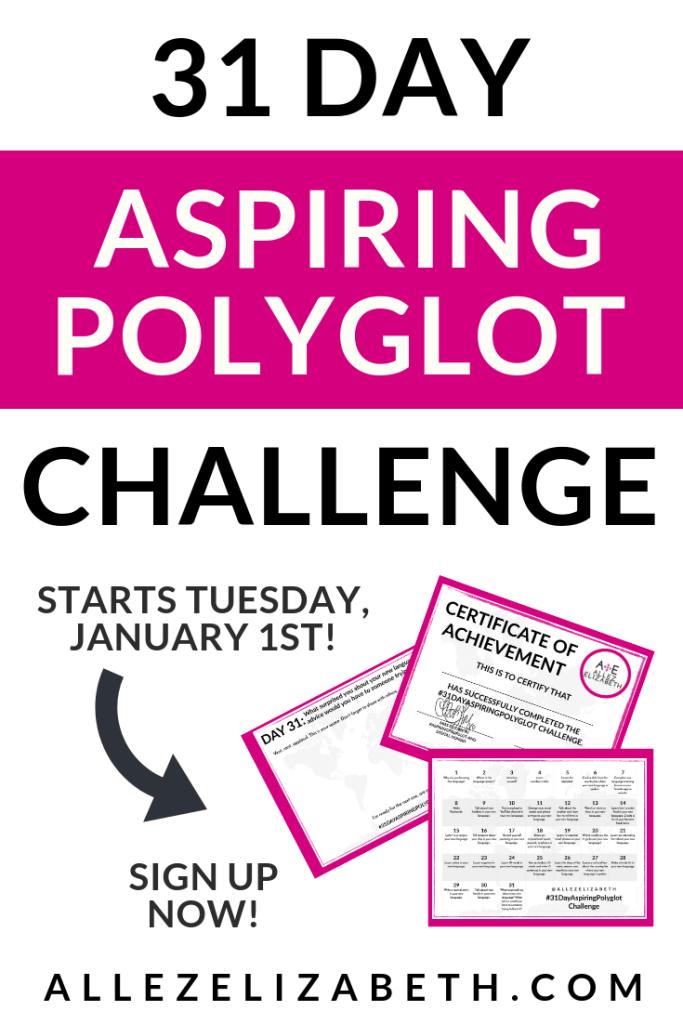 ALLEZELIZABETH - PINTEREST - 31 DAY ASPIRING POLYGLOT CHALLENGE
