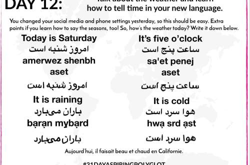 AE - DAY 12 - WORKSHEET - 31 DAY ASPIRING POLYGLOT