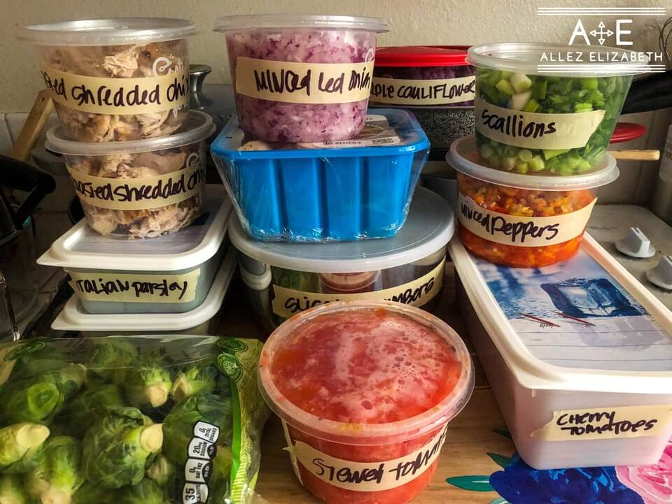 ALLEZ ELIZABETH - All the containers are from Everbowl takeout and I'm the weirdo that reuses everything.
