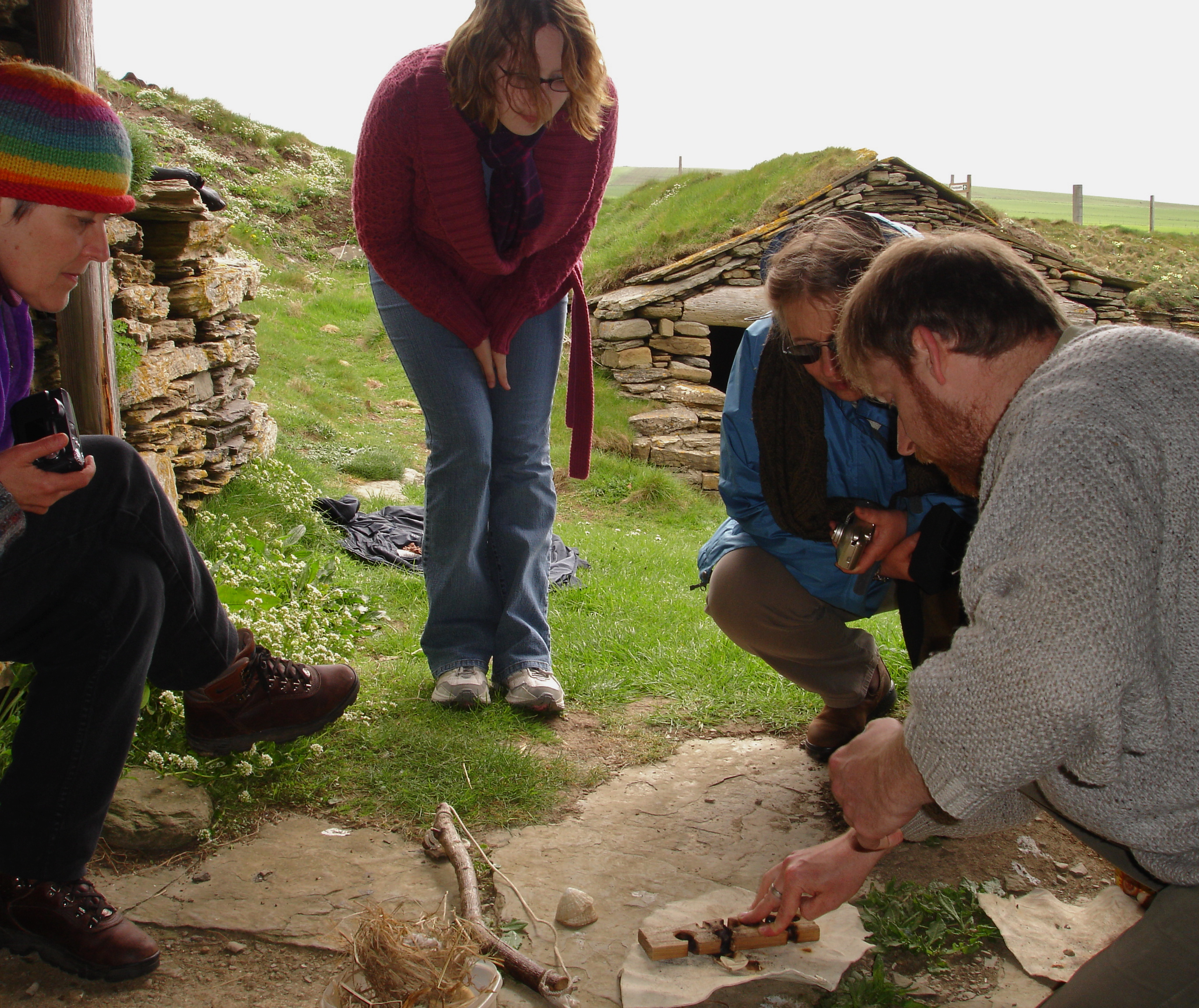 Firemaking at Fishermans Huts Orkney