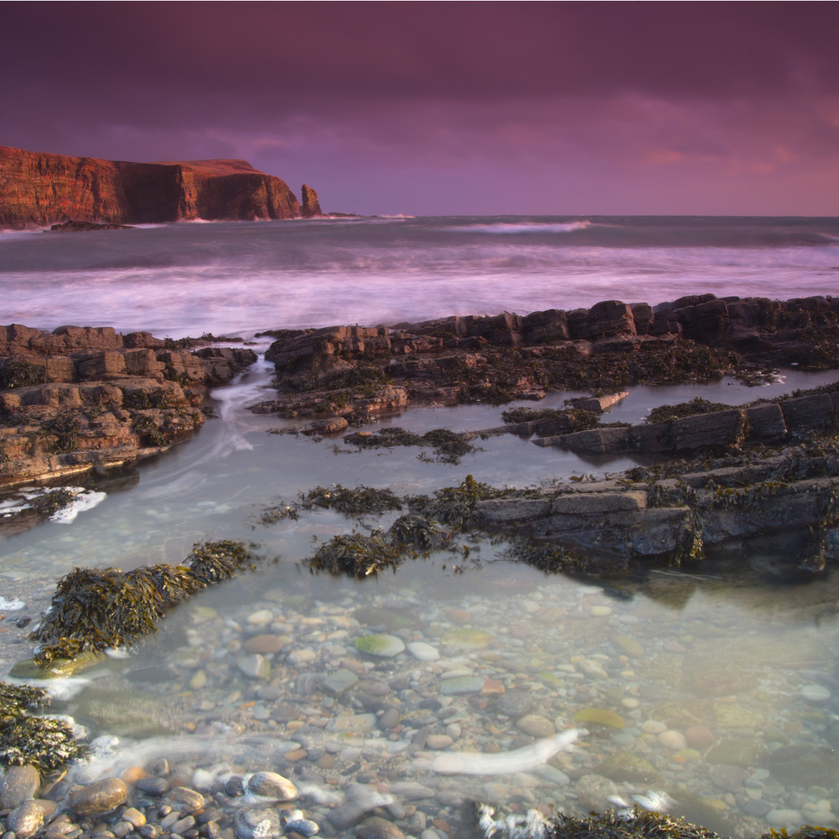 Orkney beach sunset