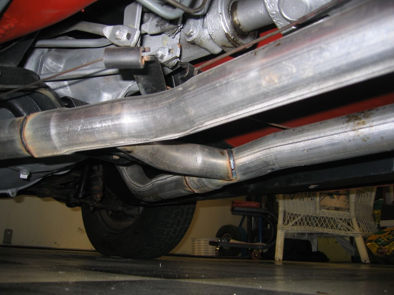 1965 mustang exhaust question ford