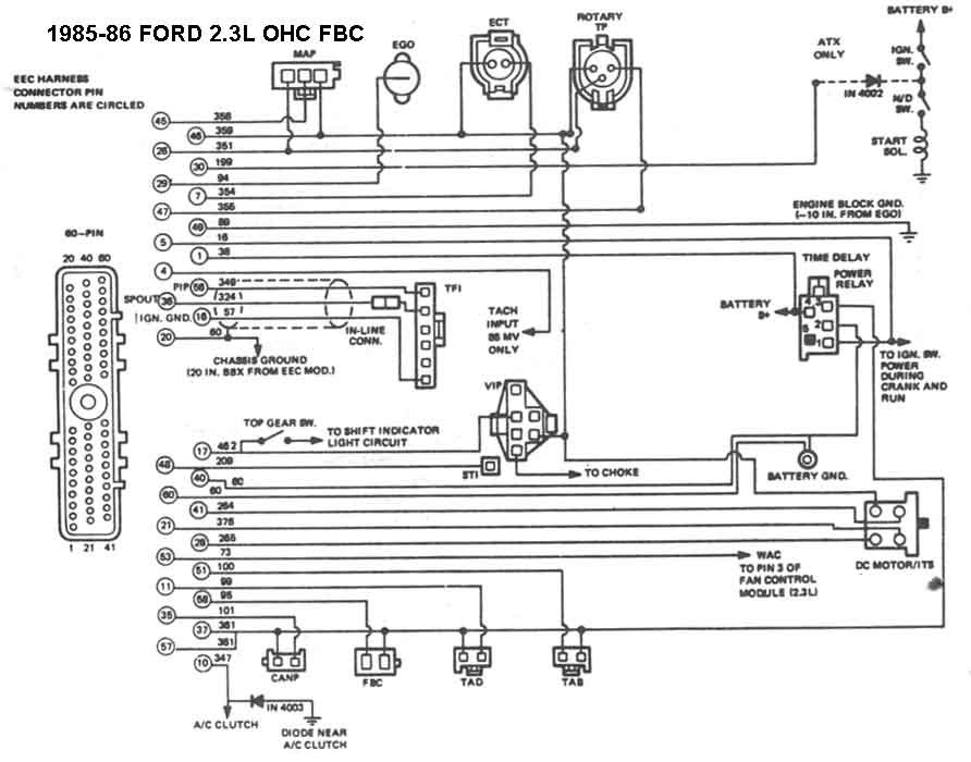 mustang wiring diagram image wiring diagram 1990 mustang 2 3 wiring diagram diagram image on 1989 mustang wiring diagram