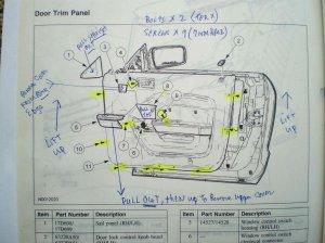 Passenger side door schematic  Ford Mustang Forum