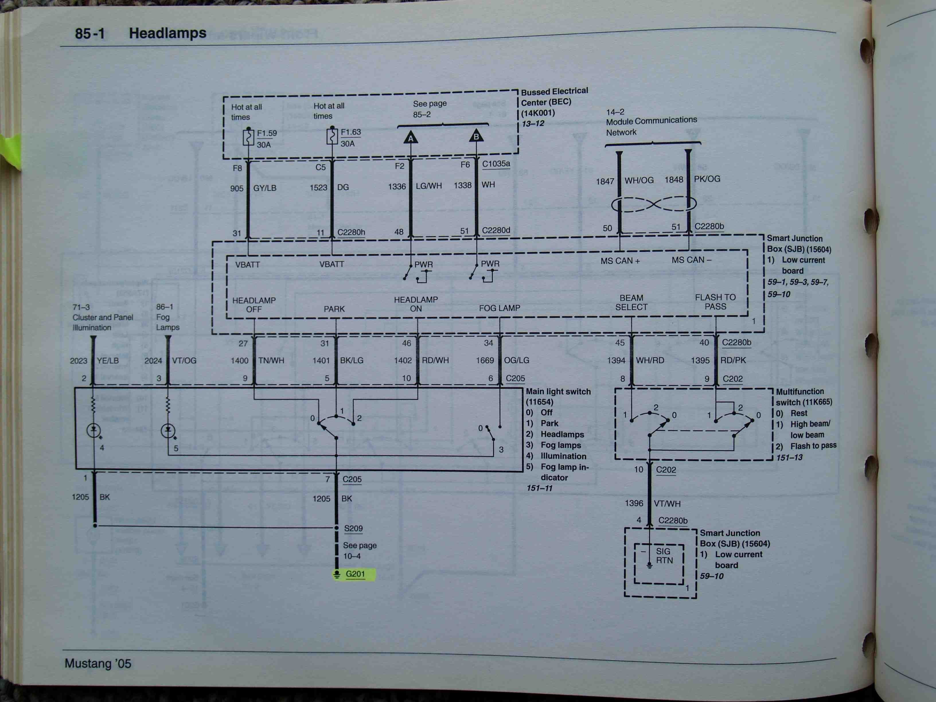 Gt Headlight Wiring Diagram