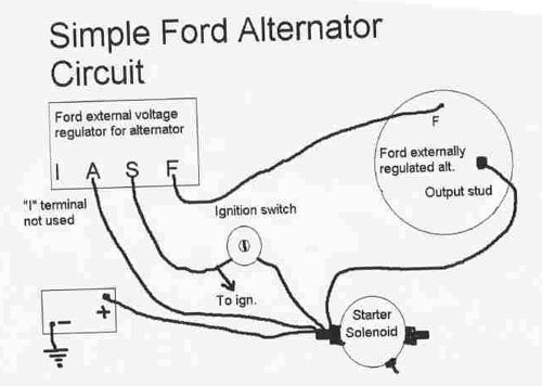 336105d1397776234 83 mustang alternator not charging ford alternator wiring diagram?resize=500%2C356 mustang alternator wiring diagram wiring diagram,Ford Mustang Alternator Wiring Diagram Schematic