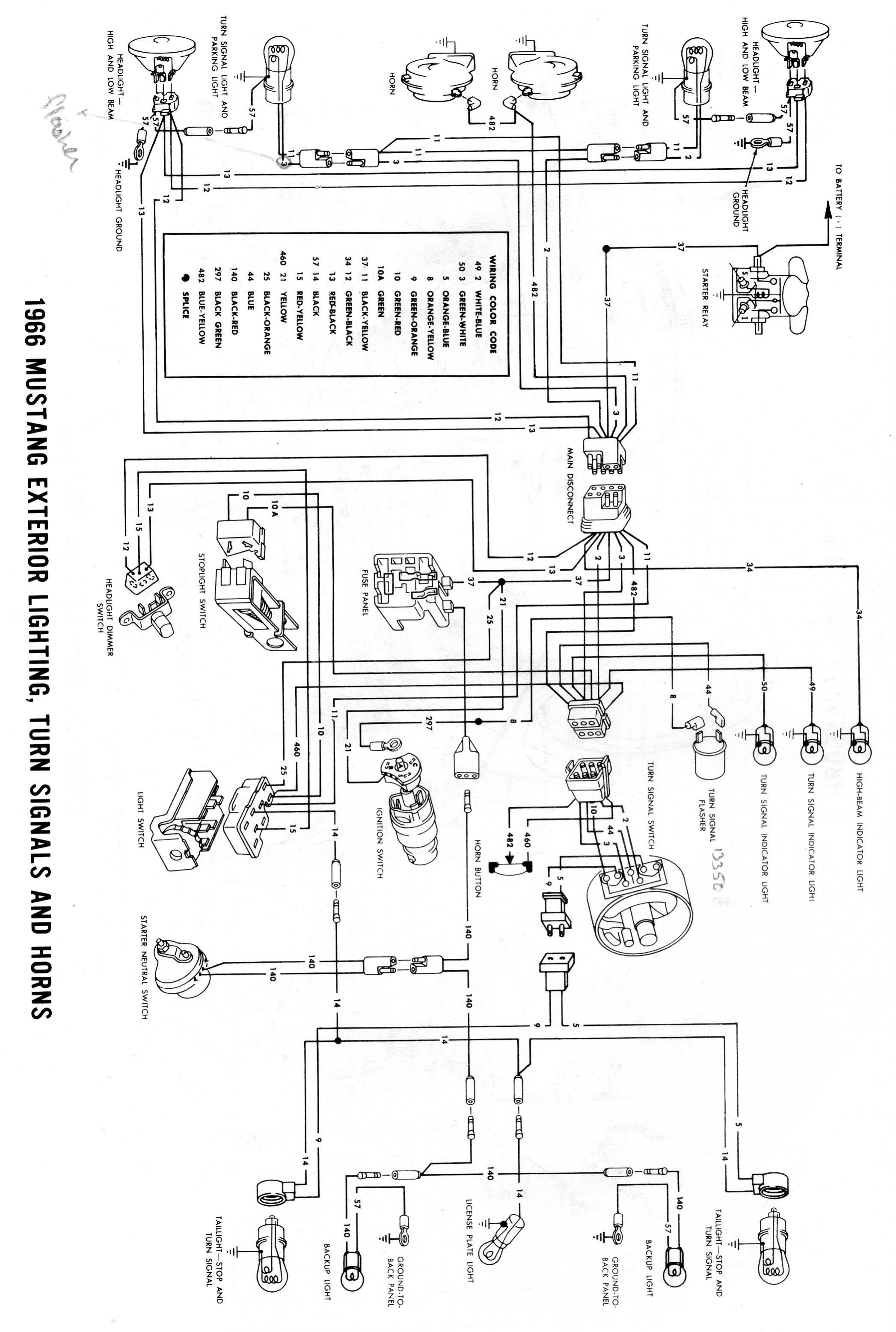 Mustang Wiring Schematic For Headlights